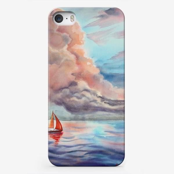 Чехол iPhone «Парусник»