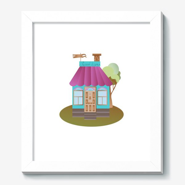 Картина «Cute house vector graphic»