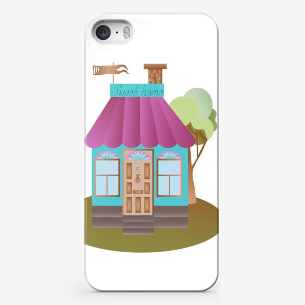Чехол iPhone «Cute house vector graphic»