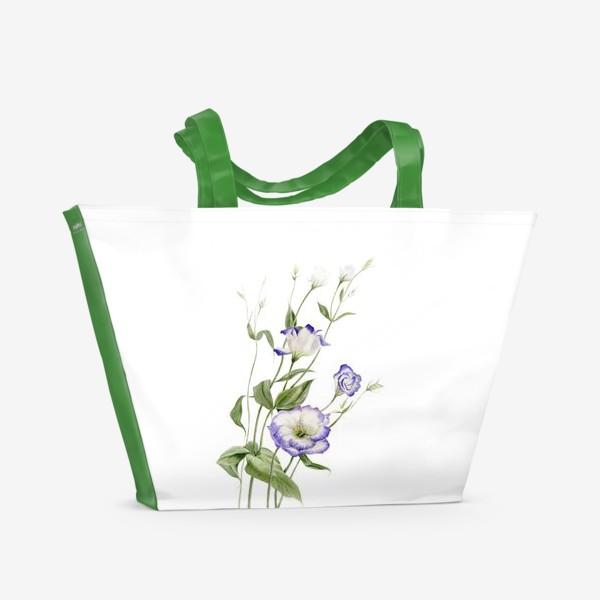 Пляжная сумка «Букет эустомы»
