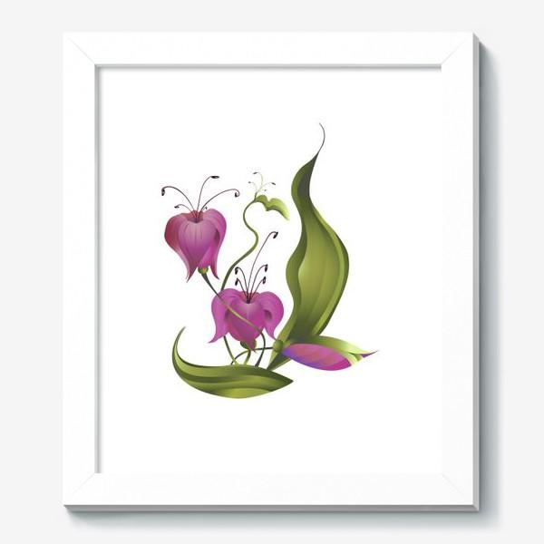 Картина «Весенние розовые цветы »