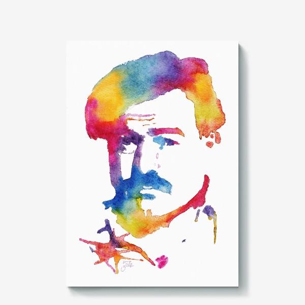 Холст «Хэмингуэй. Акварельный портрет. Hemingway Watercolor Watercolour»