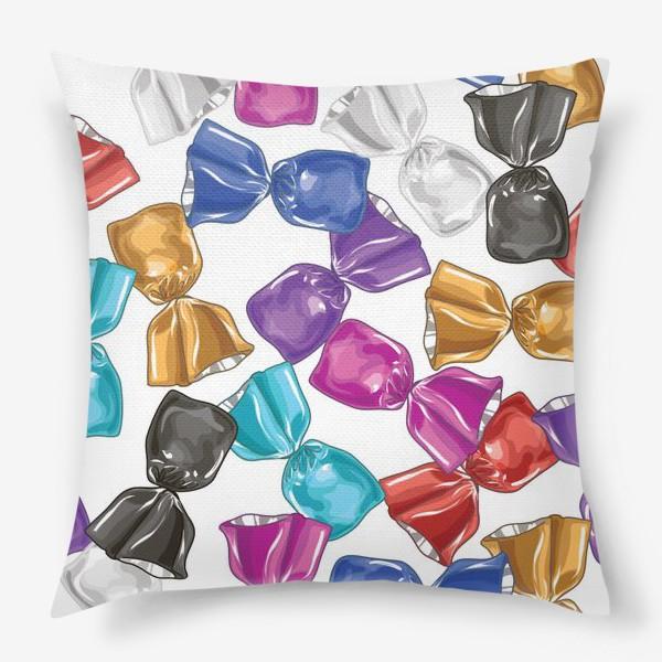 Подушка «Разноцветные конфеты»