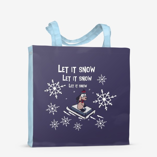 Сумка-шоппер «Let it snow»