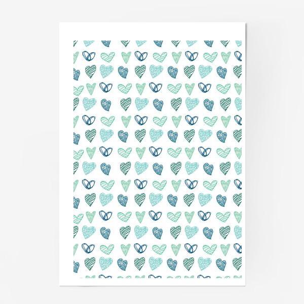 Постер «Паттерн сердечки »