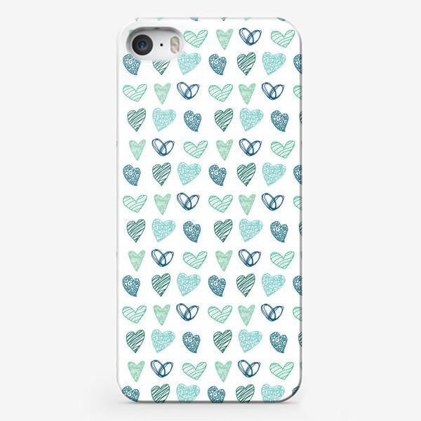 Чехол iPhone «Паттерн сердечки »