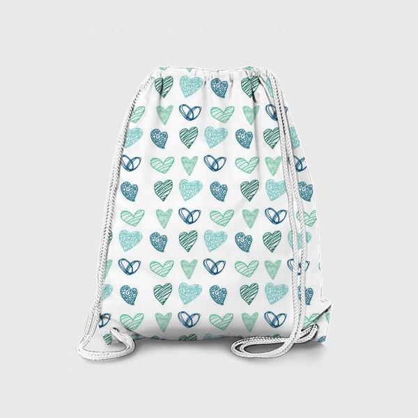 Рюкзак «Паттерн сердечки »