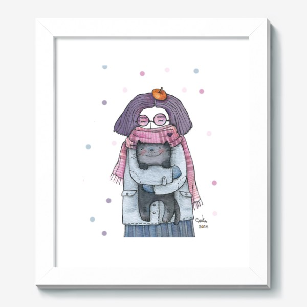 Картина «серый котик»