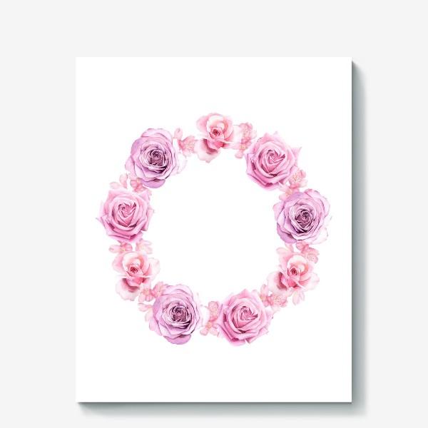 Холст «Розовый венок»