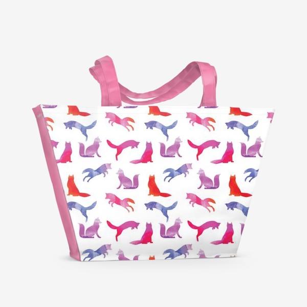 Пляжная сумка «Зимняя лиса»