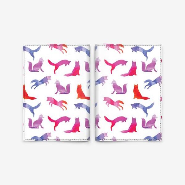 Обложка для паспорта «Зимняя лиса»
