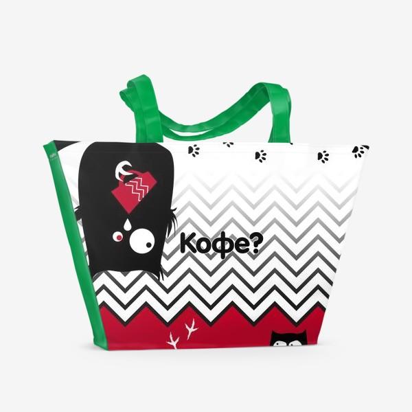 Пляжная сумка «Кофе?»