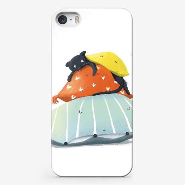 Чехол iPhone «Спящий котик без забот»
