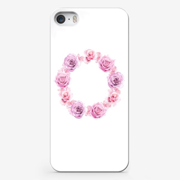 Чехол iPhone «Розовый венок»