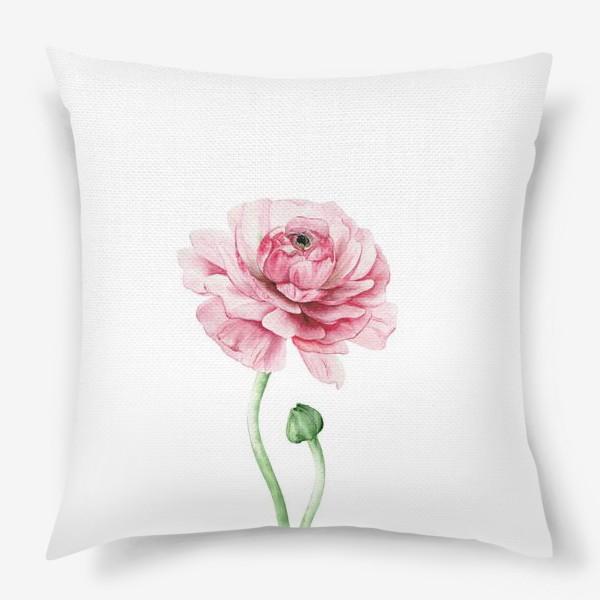 Подушка «Розовый ранункулюс »