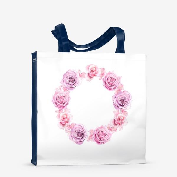 Сумка-шоппер «Розовый венок»