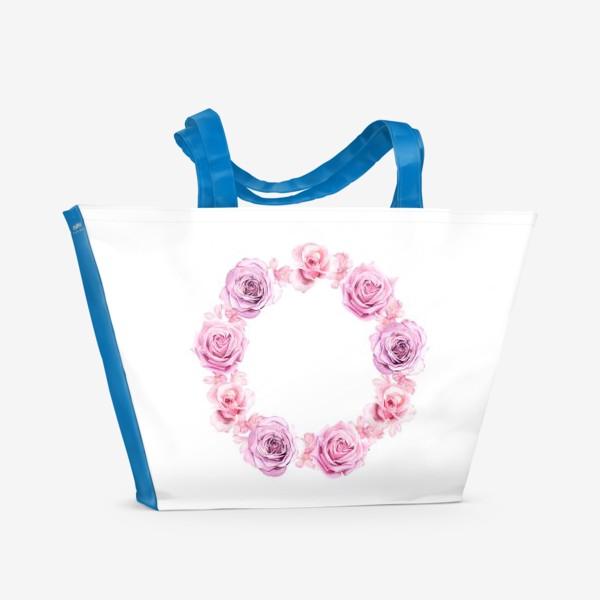 Пляжная сумка «Розовый венок»