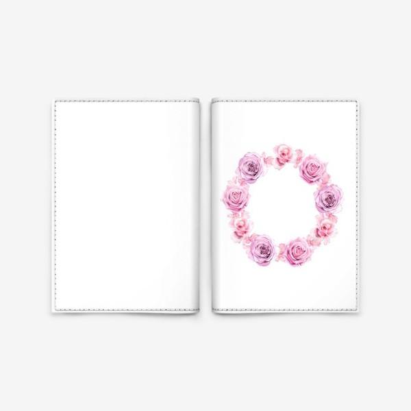 Обложка для паспорта «Розовый венок»