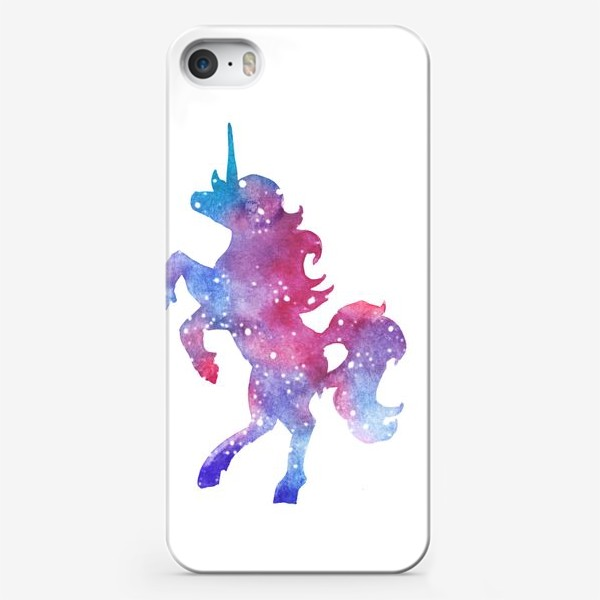 Чехол iPhone «Космический единорог »