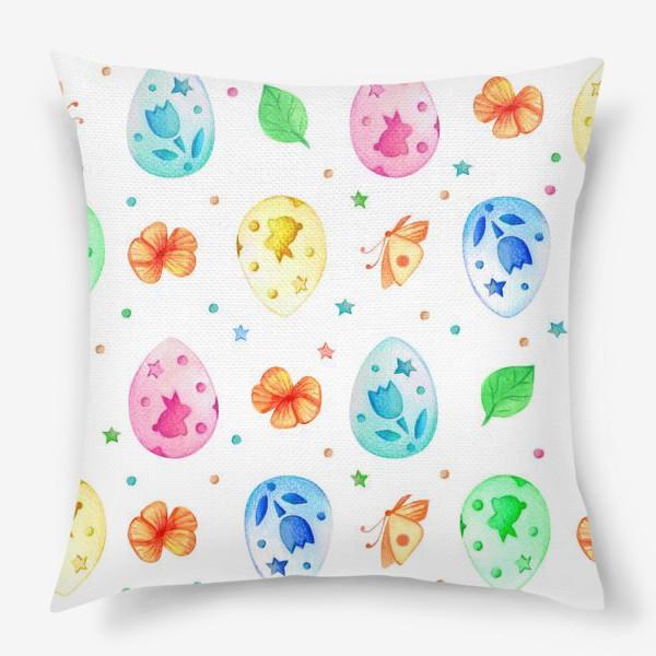 Подушка «Разноцветные пасхальные яйца»