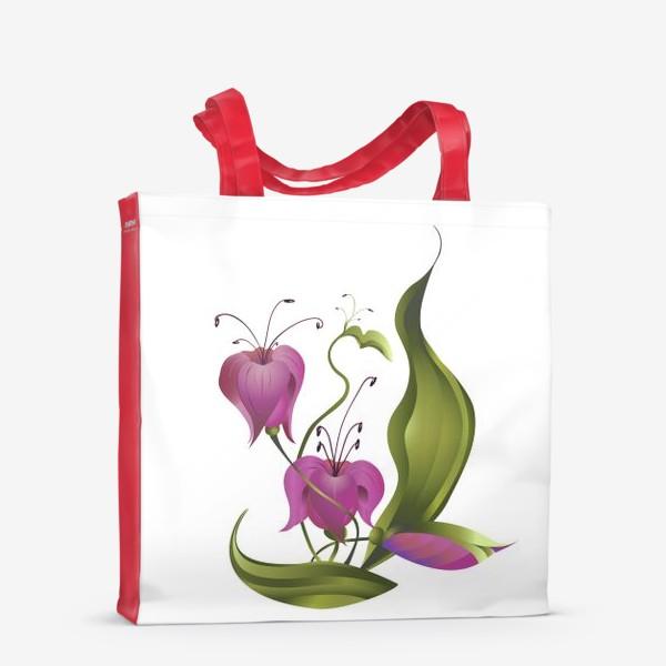Сумка-шоппер «Весенние розовые цветы »