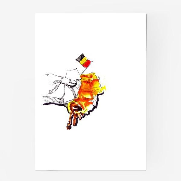 Постер «бельгийская вафля»