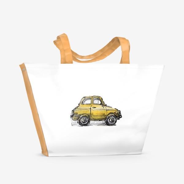Пляжная сумка «желтая машина»