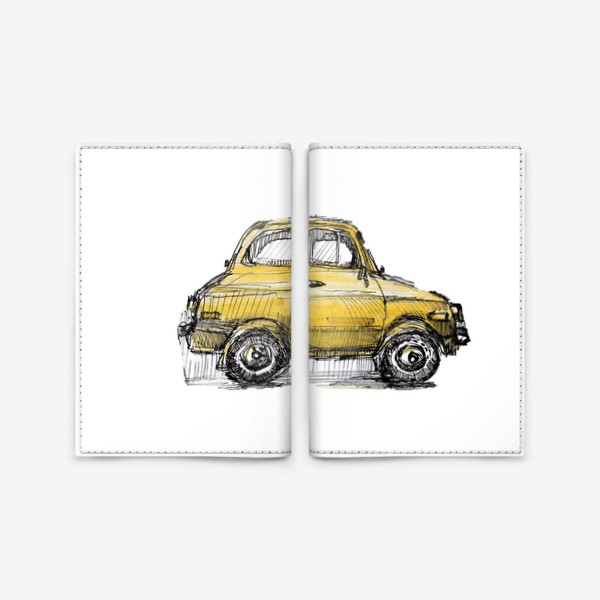 Обложка для паспорта «желтая машина»