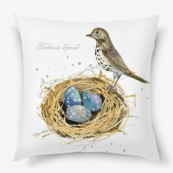 Подушка «Певчий дрозд»