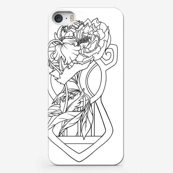 Чехол iPhone «Мак и пион Одно целое Модерн Ар нуво Лайн»