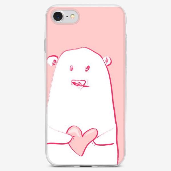 Чехол iPhone «мишка с сердцем»