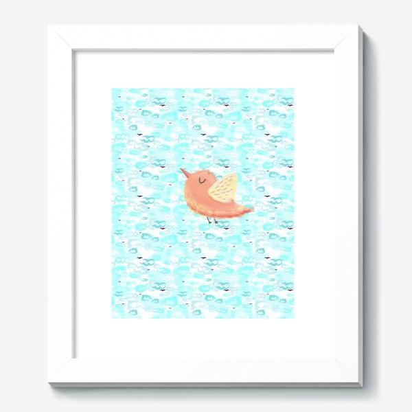 Картина «Птичка в облаках небо_Bird_sky_cloud»