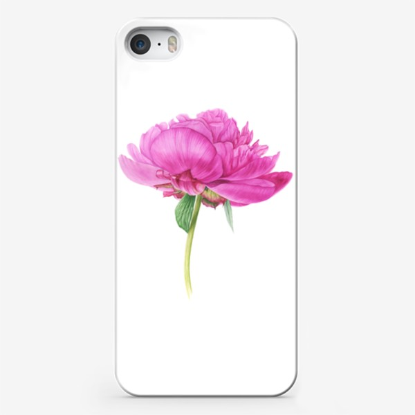 Чехол iPhone «Яркий розовый пион»