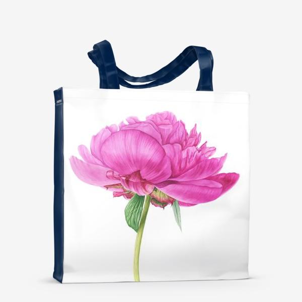 Сумка-шоппер «Яркий розовый пион»