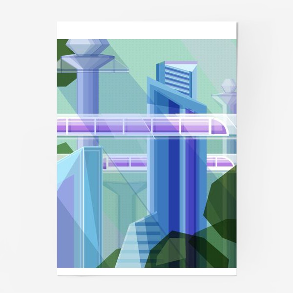 Постер «Летний город»
