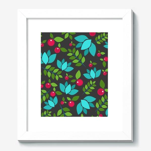 Картина «Цветочно-ягодный узор»