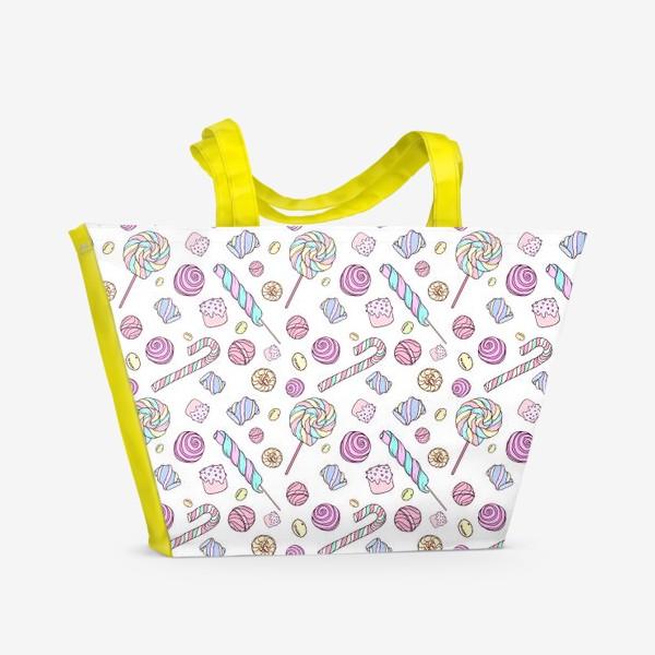 Пляжная сумка «Радужные сладости»