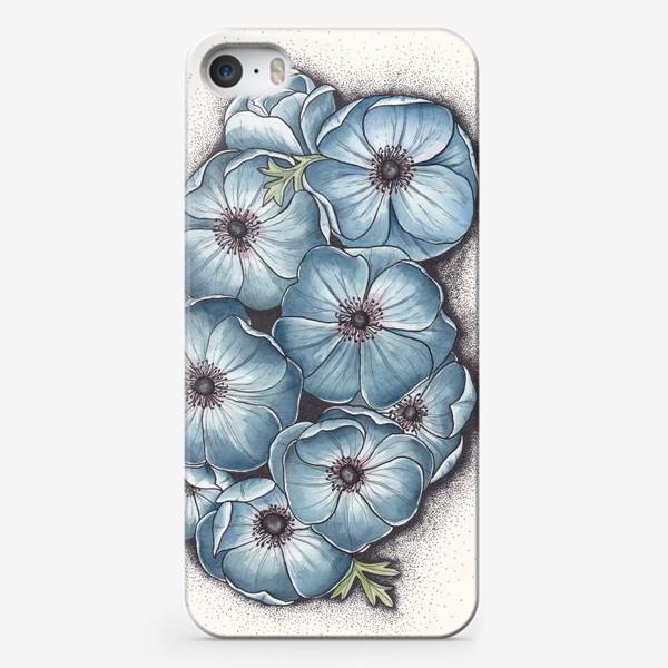 Чехол iPhone «Синие анемоны»