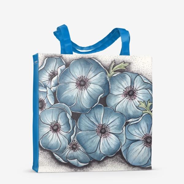 Сумка-шоппер «Синие анемоны»