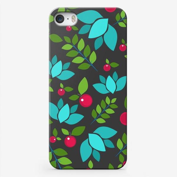 Чехол iPhone «Цветочно-ягодный узор»