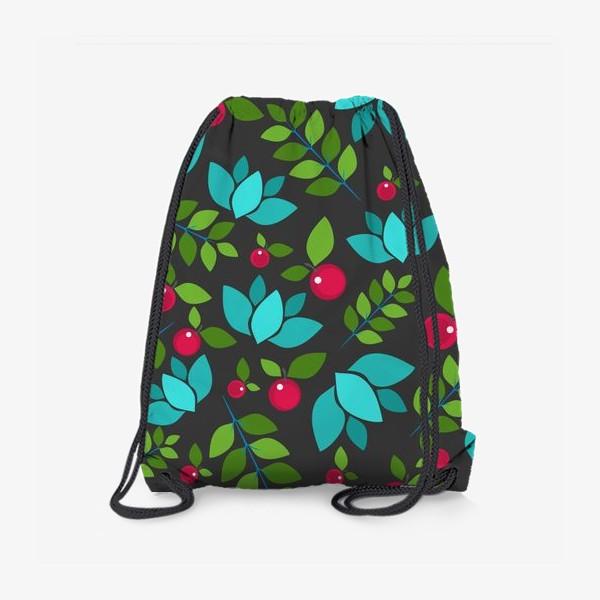 Рюкзак «Цветочно-ягодный узор»