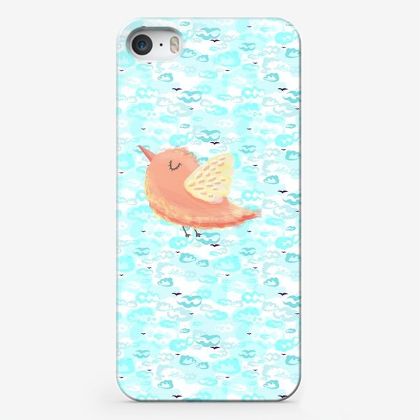 Чехол iPhone «Птичка в облаках небо_Bird_sky_cloud»
