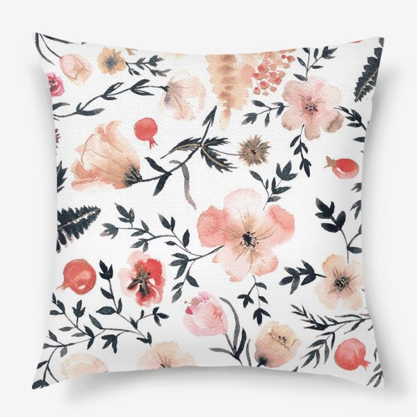 Подушка «Цветочный узор»