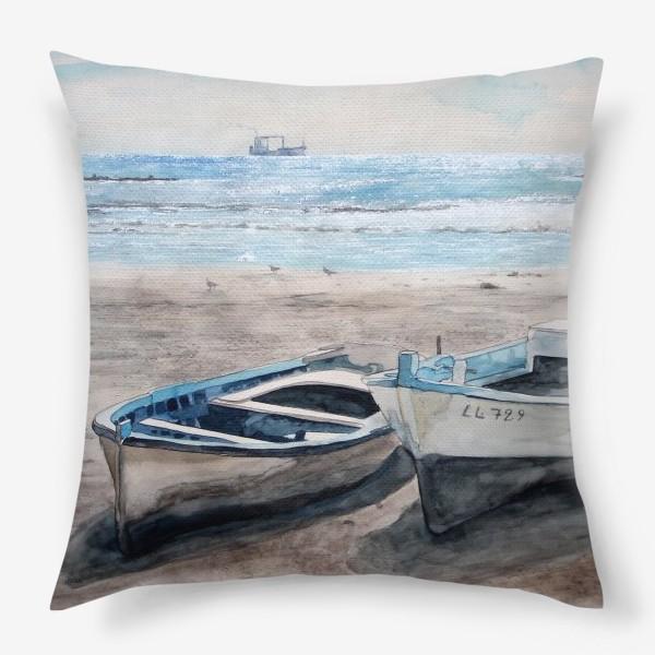 Подушка «Солнечные лодочки»