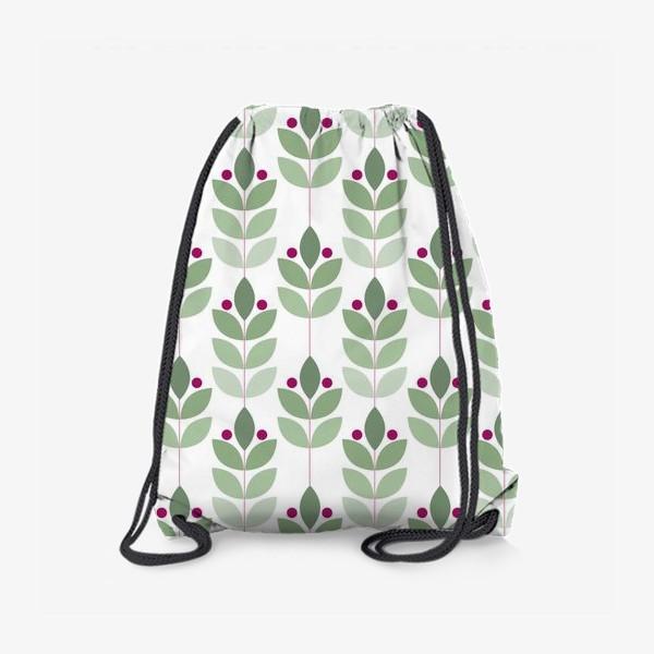 Рюкзак «Ветки и ягоды в скандинавском стиле»