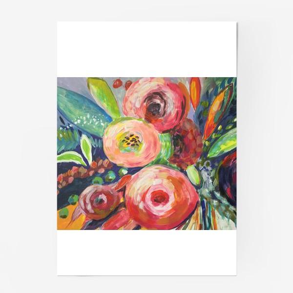 Постер «Живописные цветы»