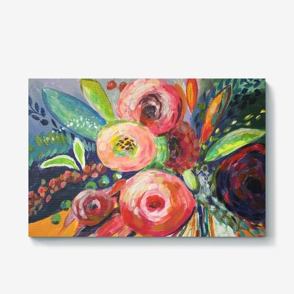 Холст «Живописные цветы»