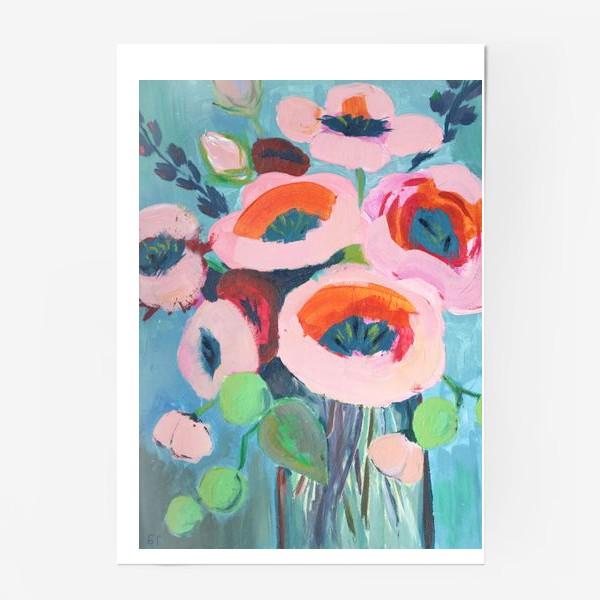 Постер «Живописные цветы. Анемоны»