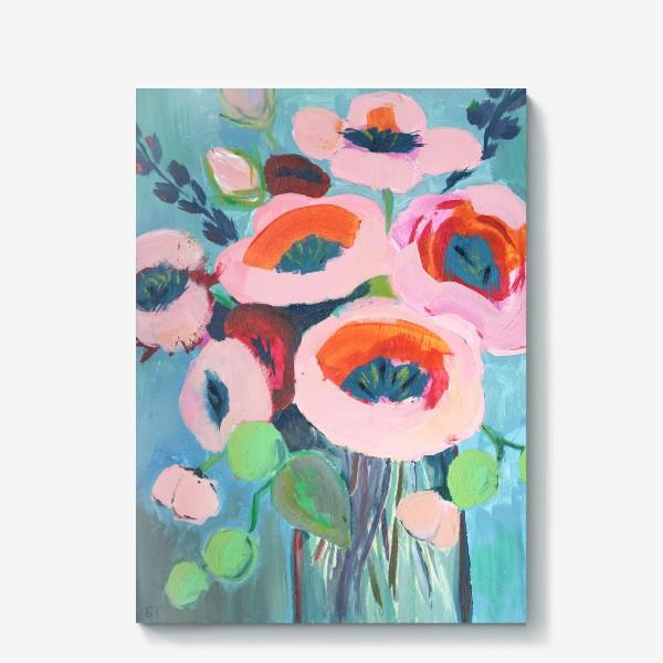 Холст «Живописные цветы. Анемоны»