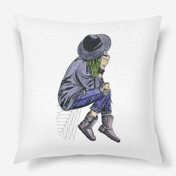 Подушка «Девушка в шляпе»
